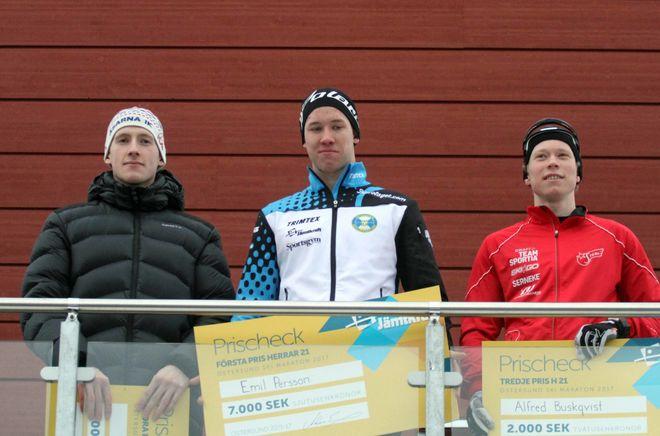 Herrtopptrio i Östersund - Jämtkraft ski marathon