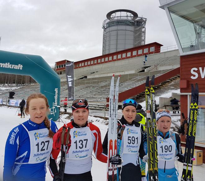 Damkvartett Jämtkraft ski marathon[1]