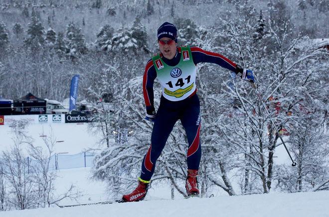 JOHAN LÖVGREN från Vännäs vann Stora Vildmannaloppet i Umeå. Här från Bruksvallsloppet. Foto/rights: KJELL-ERIK KRISTIANSEN/sweski.com