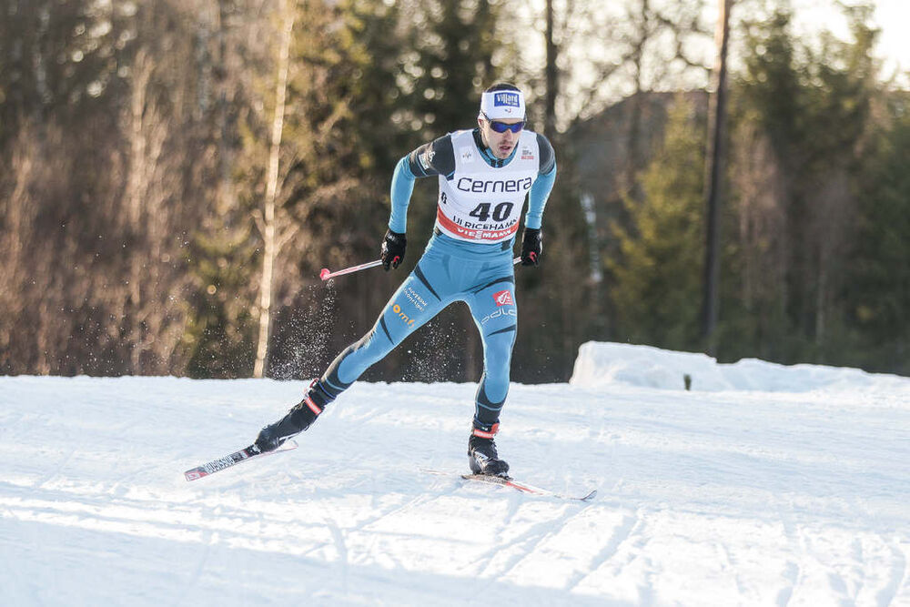 21.01.2017, Ulricehamn, Sweden (SWE):Robin Duvillard (FRA) - FIS world cup cross-country, 15km men, Ulricehamn (SWE). www.nordicfocus.com. © Modica/NordicFocus. Every downloaded picture is fee-liable.