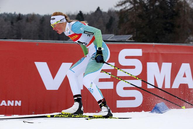 ANAMARIJA LAMPIC från Slovenien vann överraskande världscupsprinten på för-OS i Pyeongchang. Hon är bara andra års senior. Foto/rights: MARCELA HAVLOVA/sweski.com