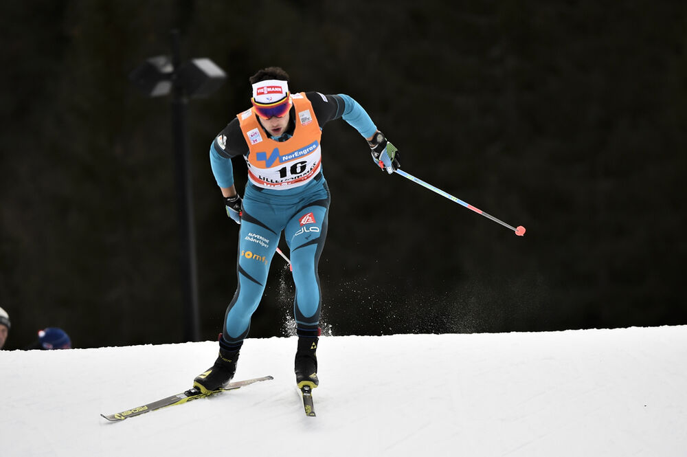 03.12.2016, Lillehammer, Norway (NOR):Adrien Backscheider (FRA) - FIS world cup cross-country, 10km men, Lillehammer (NOR). www.nordicfocus.com. © THIBAUT/NordicFocus. Every downloaded picture is fee-liable.