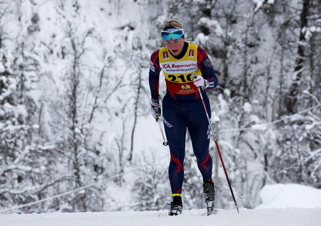 AMELIA FURUNÄS, tävlande för Malungs IF, var snabbast i helgens tjejlopp i Filipstad. Foto/rights: KJELL-ERIK KRISTIANSEN/sweski.com