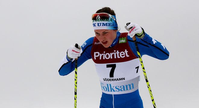 LINN SÖMSKAR vann damtävlingen Kristinaloppet i Norberg i helgen. Här från skid-SM i Söderhamn. Foto/rights: MARCELA HAVLOVA/sweski.com