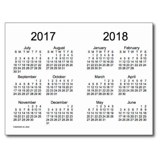 Skolekalender 2017/2018