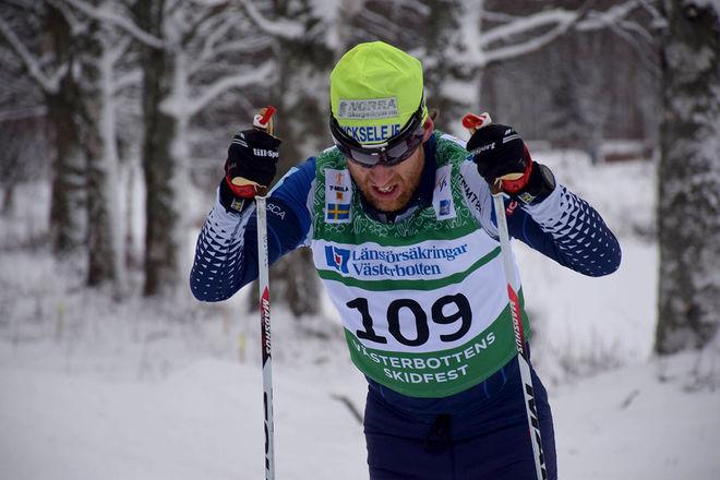 MARTIN ROSVALL från Lycksele var trea i 7-mila. Foto: LARS STENING