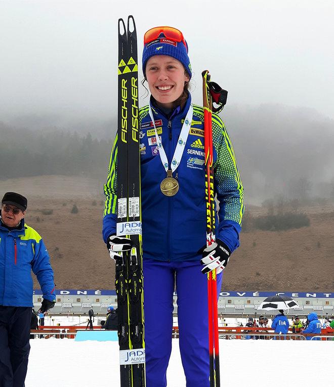 ELVIRA ÖBERGs tre JVM-guld har kommit tillbaka sedan hon utlyste en hittelön på 3.000 kronor. Foto: MAGNUS JONSSON