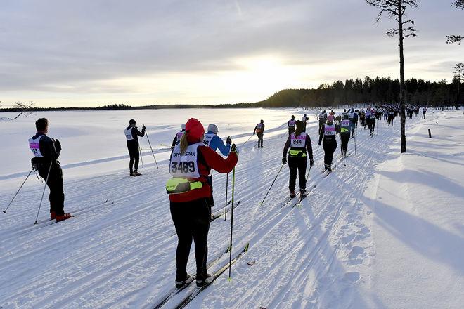 Sälen-Mora 170226Öppet SpårSoluppgång vid VersjöarnaFoto Nisse Schmidt