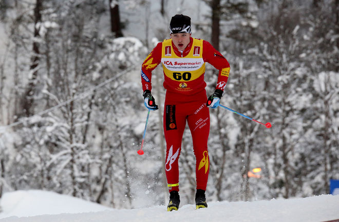 BORÅS-JUNIOREN Anton Swedberg var snabbaste åkare i HalvVasan under tisdagen. Foto/rights: KJELL-ERIK KRISTIANSEN/sweski.com