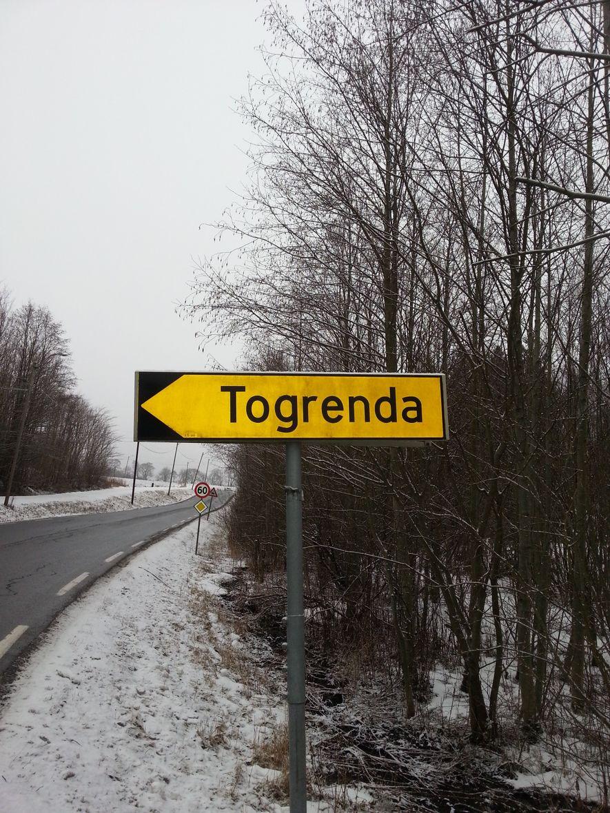Områdeskilt Togrenda