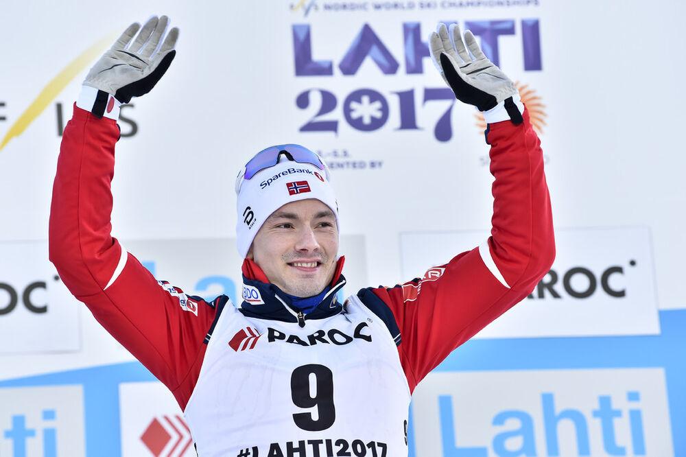 25.02.2017, Lahti, Finland (FIN):Finn Haagen Krogh (NOR) - FIS nordic world ski championships, cross-country, skiathlon men, Lahti (FIN). www.nordicfocus.com. © Thibaut/NordicFocus. Every downloaded picture is fee-liable.