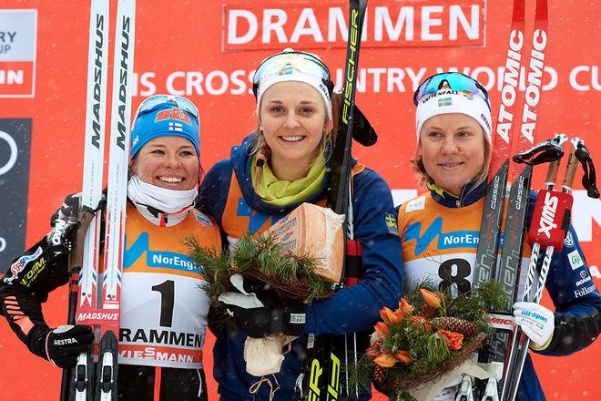 STINA NILSSON fick sin seger till slut i Drammen, fast först efter ett långt jurymöte. Tvåa var Krista Pärmäkoski och trea Hanna Falk. Foto: NORDIC FOCUS