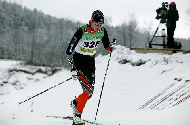 MOA LARSSON, Falun-Borlänge SK har inte tävlat på hela säsongen, men den gånga helgen var hon tillbaka och vann direkt i Österrike. Foto/rights: MARCELA HAVLOVA/sweski.com