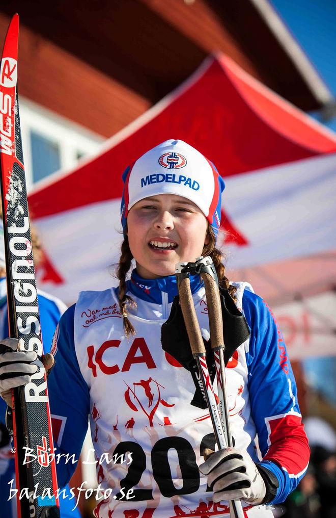 TOVE ERICSSON, Medelpad körde hem segern i D14, hon var en av favoriterna i klassen. Foto: BJÖRN LANS