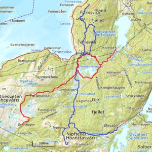 Kart løypenett, Tennevik Løypelag (2)