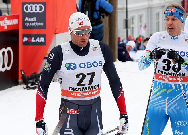 PETTER NORTHUG jr är inte uttagen till världscupfinalen i Kanada. Här från sprinten i Drammen. Foto: ÅGE KRISTIANSEN/sweski.com