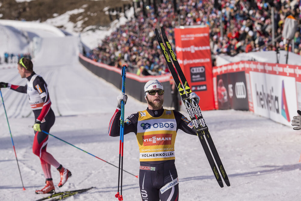 11.03.2017, Oslo, Norway (NOR):Martin Johnsrud Sundby (NOR) - FIS world cup cross-country, mass men, Oslo (NOR). www.nordicfocus.com. © NordicFocus. Every downloaded picture is fee-liable.