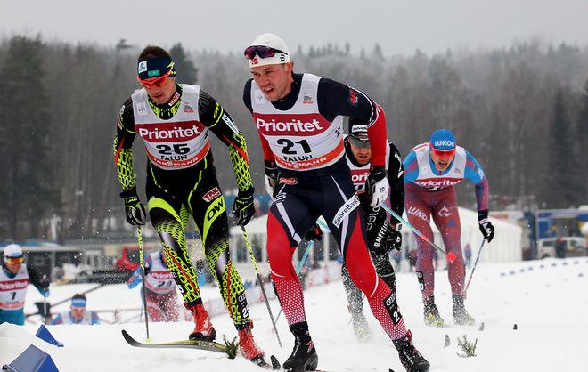 PÅL GOLBERG har kommit in i det norska laget istället för Martin Johnsrud Sundby. Här från Falun där han fick åka tremilen men inte sprinten trots att han var i ledning i sprintvärldscupen. Foto/rights: MARCELA HAVLOVA/sweski.com