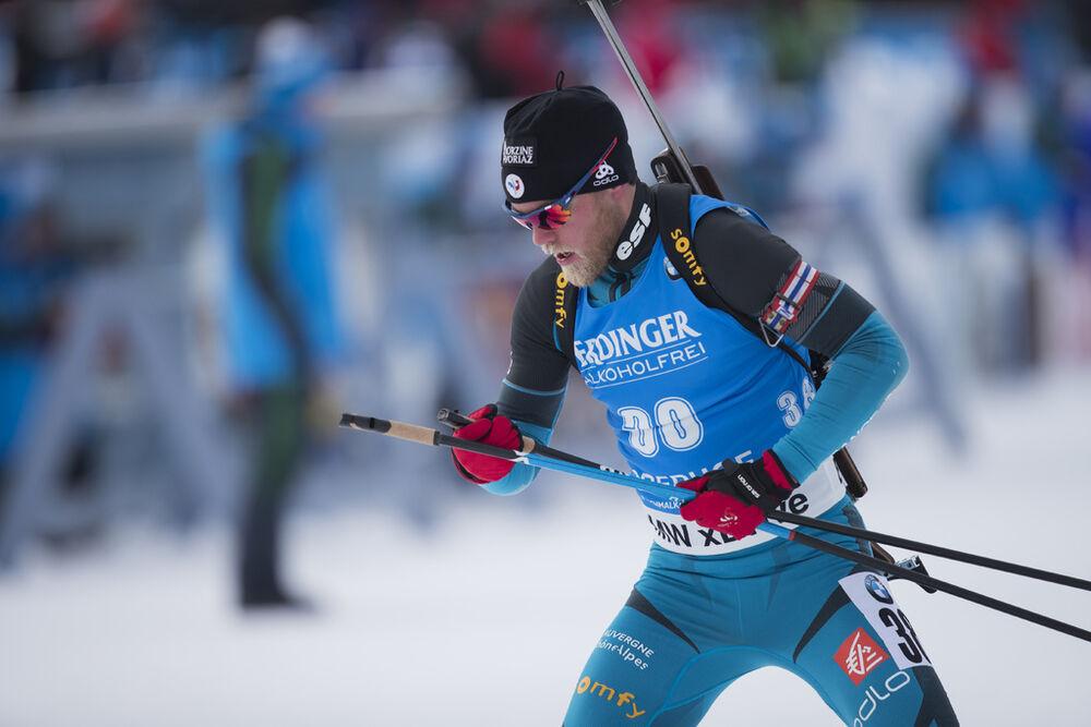 07.01.2017, Oberhof, Germany (GER):Antonin Guigonnat (FRA) -  IBU world cup biathlon, pursuit men, Oberhof (GER). www.nordicfocus.com. © Manzoni/NordicFocus. Every downloaded picture is fee-liable.