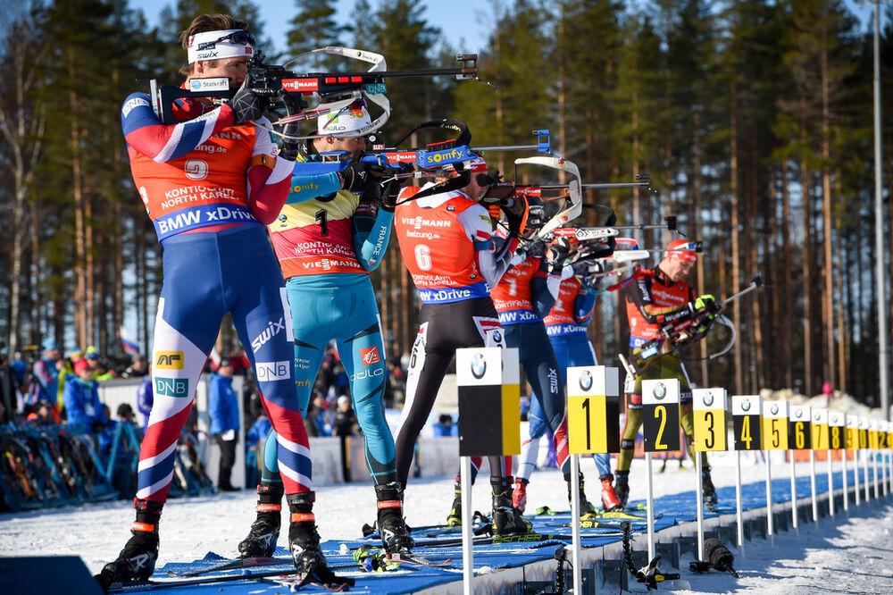 11.03.2017, Kontiolahti, Finland (FIN):Martin Fourcade (FRA) -  IBU world cup biathlon, pursuit men, Kontiolahti (FIN). www.nordicfocus.com. © Tumashov/NordicFocus. Every downloaded picture is fee-liable.