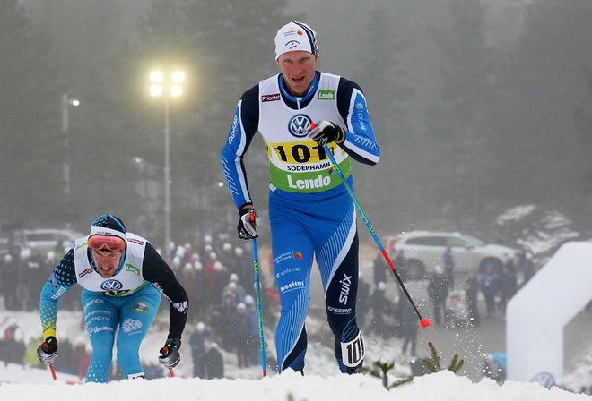 DANIEL RICKARDSSON, här i Hudiksvalls dress under skid-SM i Söderhamn. På lördag byter han ut HIF-kläderna med Team Tynells och kör Birkebeinerrennet i Norge. Foto/rights: MARCELA HAVLOVA/sweski.com