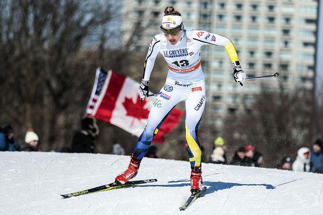 STINA NILSSON tog en ny världscupseger i sprint - nu i Quebec i Kanada. Foto: NORDIC FOCUS