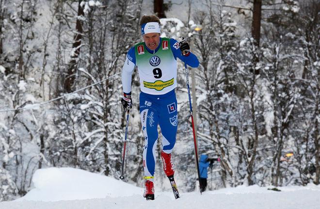 ERIK SILFVER gjorde en mycket stark prolog vid Intersport cup-finalen i klassisk sprint i Skellefteå. Foto/rights: KJELL-ERIK KRISTIANSEN/sweski.com