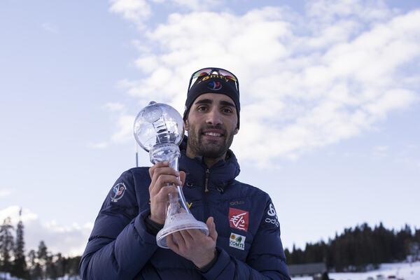 18.03.2017, Oslo, Norway (NOR):Martin Fourcade (FRA) - IBU world cup biathlon, cups, Oslo (NOR). www.nordicfocus.com. © Manzoni/NordicFocus. Every downloaded picture is fee-liable. NordicFocus