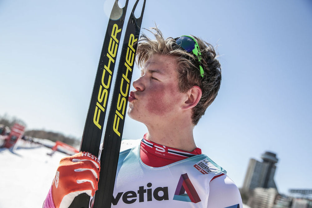 18.03.2017, Quebec, Canada (CAN):Johannes Hoesflot Klaebo (NOR) - FIS world cup cross-country, mass men, Quebec (CAN). www.nordicfocus.com. © Modica/NordicFocus. Every downloaded picture is fee-liable.