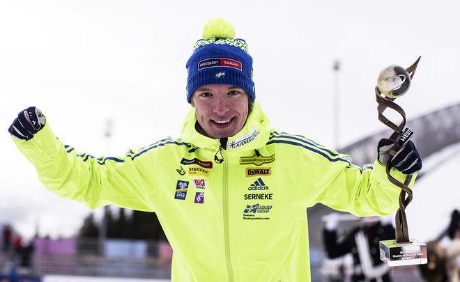 """PÅ HERRSIDAN blev Sebastian Samuelsson korat till """"Årets rookie"""" i världscupen. Foto: NORDIC FOCUS"""