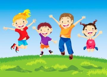 illustrasjon-glade-barn