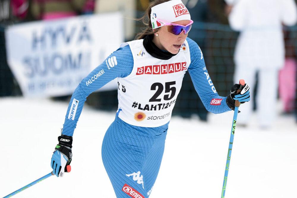 28.02.2017, Lahti, Finland (FIN):Caterina Ganz (ITA) - FIS nordic world ski championships, cross-country, 10km women, Lahti (FIN). www.nordicfocus.com. © Modica/NordicFocus. Every downloaded picture is fee-liable.
