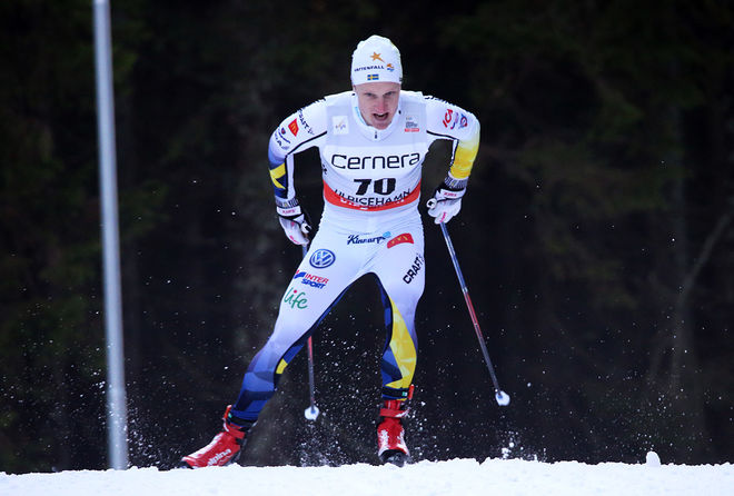 JENS BURMAN har etablerat sig i senioreliten den här säsongen. Åsarna-åkaren slutade tvåa i U23-världscupen, dock långt efter suveränen Johannes Høsflot Klæbo från Trondheim. Foto/rights: MARCELA HAVLOVA/sweski.com