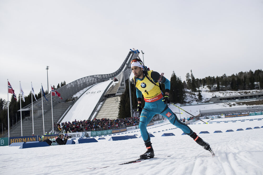 19.03.2017, Oslo, Norway (NOR):Martin Fourcade (FRA) -  IBU world cup biathlon, mass men, Oslo (NOR). www.nordicfocus.com. © Manzoni/NordicFocus. Every downloaded picture is fee-liable.