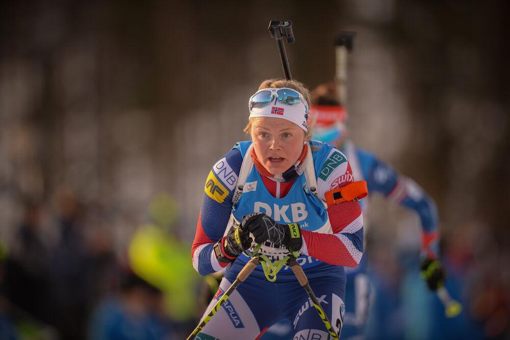 11.03.2017, Kontiolahti, Finland (FIN):Hilde Fenne (NOR) -  IBU world cup biathlon, pursuit women, Kontiolahti (FIN). www.nordicfocus.com. © Tumashov/NordicFocus. Every downloaded picture is fee-liable.