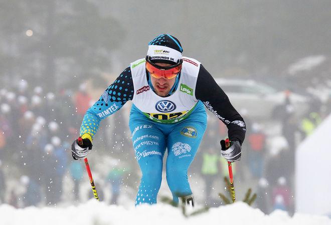OSKAR KARDIN var stark trea och tog sin första pallplats i Visma Ski Classics i Årefjällsloppet under lördagen. Foto/rights: MARCELA HAVLOVA/sweski.com