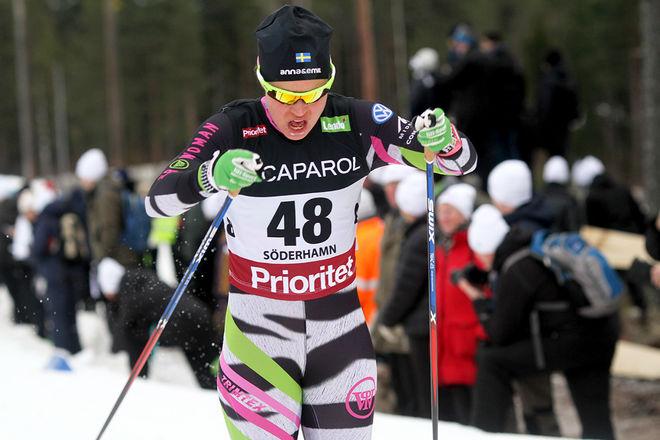 ANNA HAAG vann Storlirennet i Meråker i Norge, dagen efter den tuffa SM-tremilen i Umeå. Foto: THORD ERIC NILSSON