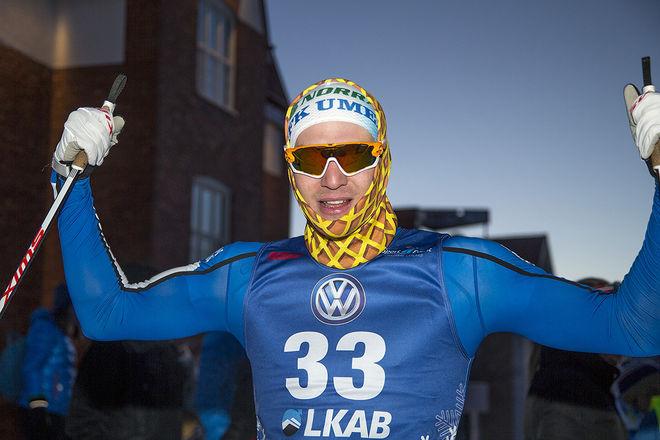 MARCUS GRATE, IFK Umeå vann lite överraskande sprinten i Gällivare. Foto: YNGVE JOHANSSON, Imega Promotion