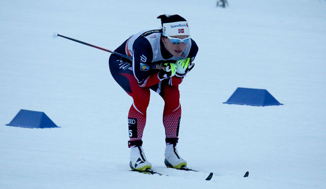 MARIT BJØRGEN var överlägsen på 5 km fristil vid norska mästerskapen under fredagen och tog sitt NM-guld nummer 20. Foto/rights: MARCELA HAVLOVA/sweski.com