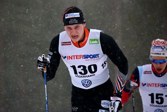 ANTON HEDLUND vann Grönklittsjakten efter att ha passerat Pontus Hermansson i jaktstarten. Här från SM i Söderhamn. Foto/rights: MARCELA HAVLOVA/sweski.com