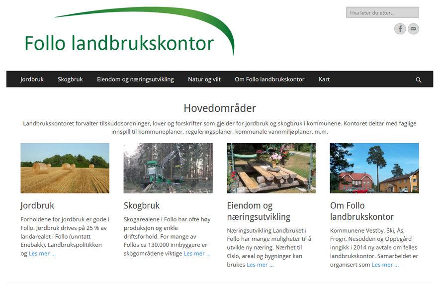 Follo landbrukskontor hjemmeside