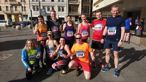 Deltakarar halvmaraton i Praha