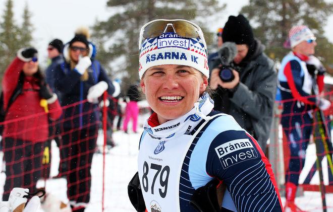IDA INGEMARSDOTTER avslutade säsongen med påskens andra seger då hon vann Pilgrimsloppet i Lofsdalen på påskdagen. Foto/rights: MARCELA HAVLOVA/sweski.com
