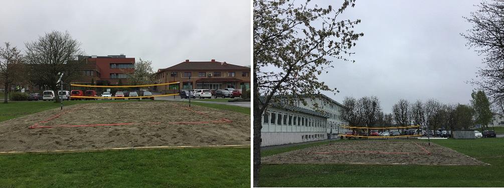 Sandvolleyballbane på rådhusplassen
