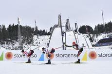 01.03.2017, Lahti, Finland (FIN):Akito Watabe (JPN), Wilhelm Denifl (AUT), Johannes Rydzek (GER) - FIS nordic world ski championships, nordic combined, individual gundersen HS130/10km, Lahti (FIN). www.nordicfocus.com. © Thibaut/NordicFocus. Every downl