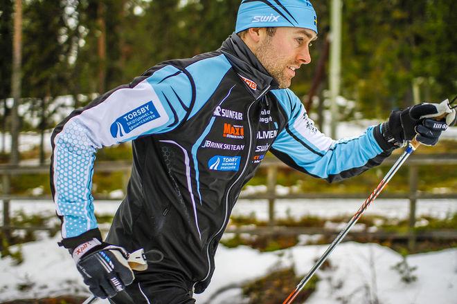 JÖRGEN BRINK kan än. I helgen vann han Medelpad Ski Classic i Sundsvall. Foto: BRINK SKI TEAM
