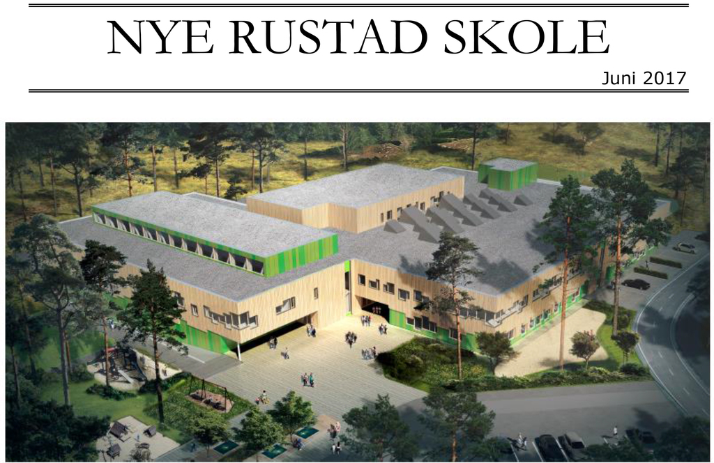 Nye Rustad skole illustrasjonsbilde