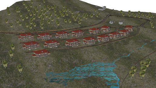 Hadelandsparken vest 3D-modell