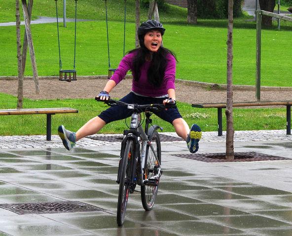 2017-06-23 Mariann sykle til jobben