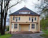 Hovedbygningen på Solheim under istandsetting